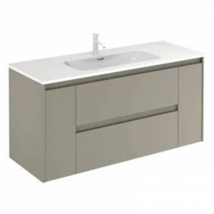 Royo® Mueble de baño con lavabo cerámico Enzo 120cm Arena mate Alfa Royo