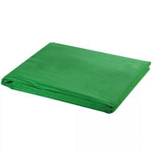 VidaXL Telón de fondo estudio fotografía algodón verde 600x300cm croma Vida XL