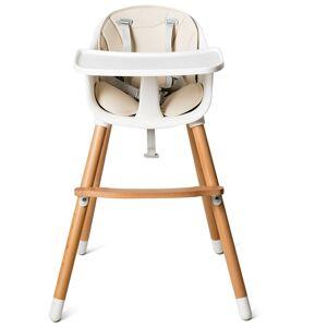 Costway Trona para Bebé Trona Convertible Multifuncional con Bandeja Removible Arnés de 5 Puntos Cojín Acolchado Altura Ajustable para Bebé de 6 a 36