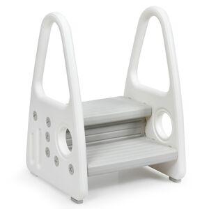 Costway Taburete para Niños Escalera Multiuso con Diseño Antideslizante Reposabrazos Seguros Fácil de Montar Gris 44 x 39,5 x 61 cm