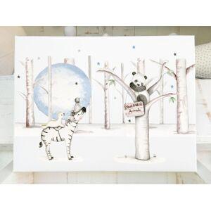 imda Cuadro infantil & 39;Animals Black & White& 39; (lienzos: Medida 40 x 70cm)