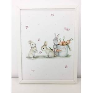 "imda Lámina decorativa ""Conejitos& 39; (lienzos: Medida 50 x 70cm)"