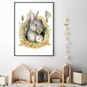 imda Lámina decorativa & 39;Conejo& 39; (lienzos: Medida 50 x 70cm)