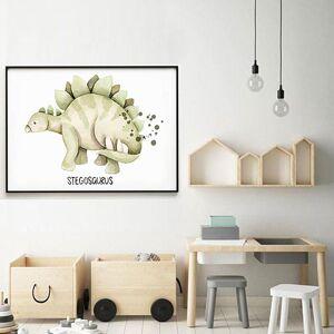 imda Lámina decorativa & 39;Dino Stegosaurus& 39; (lienzos: Medida 61 x 91cm)