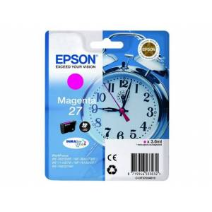 Epson Cartucho de tinta original EPSON 27 Magenta C13T27034012, T2703, Despertador