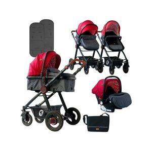 LORELLI Carrito de Bebé Trio LORELLI 3 In 1 Alexa Rojo