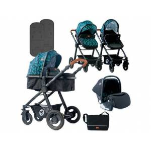 LORELLI Carrito de Bebé Trio LORELLI 3 In 1 Alexa Azul