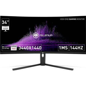 MILLENIUM Monitor Gaming Curvo MILLENIUM MD34PRO (34& 39;& 39; - 1 ms - 144 Hz - VA/QLED/HDR400)