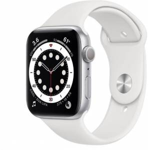 Apple Reloj Apple Apple Watch S6 GPS, 44mm Silver Aluminium Case with White Sport Band - Regular