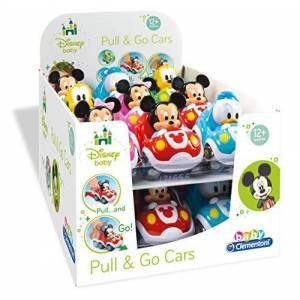 CLEMENTONI SpA Clementoni Disney Baby Pull & Go Cars Toy Cars Models Assorted 1 Piece
