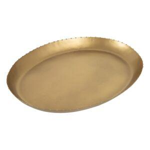 LOLA home Centro de mesa bandeja color bronce de metal de 40x30 cm