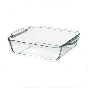 LOLA home Bandeja horno rectangular de vidrio pyrex transparente de 2160 ml