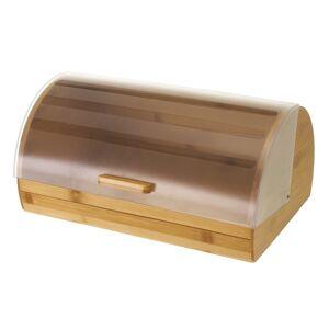 LOLA home Panera rectangular con tapa de bambú natural y poliestireno de 38x26x18 cm