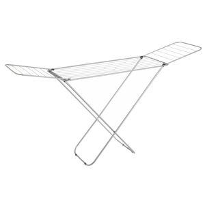 LOLA home Tendedero plegable con alas gris de metal de 182x95x47 cm
