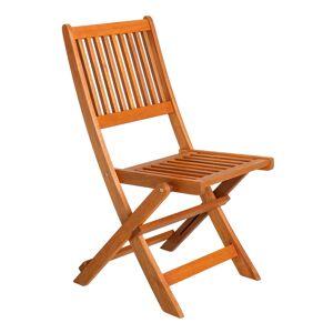 LOLA home Silla de jardín Kate plegable de madera natural marrón nórdica de 46x60x8