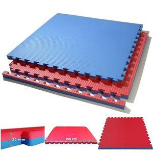 Tatami Puzzle Reversible Kinefis Color Azul - Rojo (grosor 25 mm)