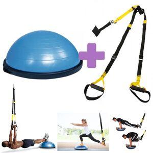 PACK AHORRO PONTE EN FORMA: Bosu Ball Kinefis + Kit Suspensión Kinefis Tipo TRX: Realiza un entrenamiento funcional donde quieras