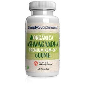 Simply Supplements Orgánica - Ashwagandha KSM-66® 600mg - 60 Cápsulas
