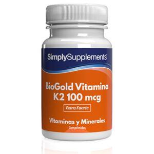 Simply Supplements BioGold Vitamina K2 100 mcg - 60 Comprimidos