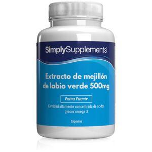 Simply Supplements Extracto de Mejillón de Labio Verde 500mg - 240 Cápsulas