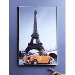 A Vintage Affair- Home Decor Multicoloured Vintage Eiffel Tower Wall Painting
