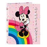 Carpeta 4 anillas mixtas A4 Safta Minnie Mouse Rainbow