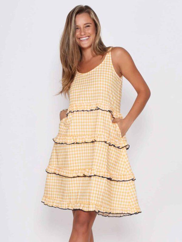 Clara Check Dress