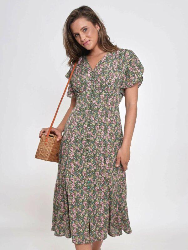 Midi Flora Dress