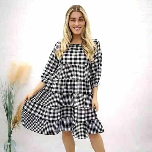 Ruffle LS Dress
