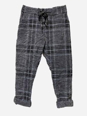 Check Cord Pants