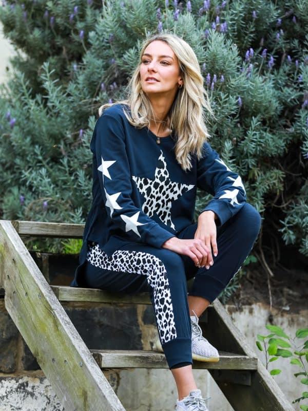 Leopard Star Sweater