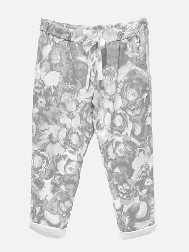 Tonal Print Pants