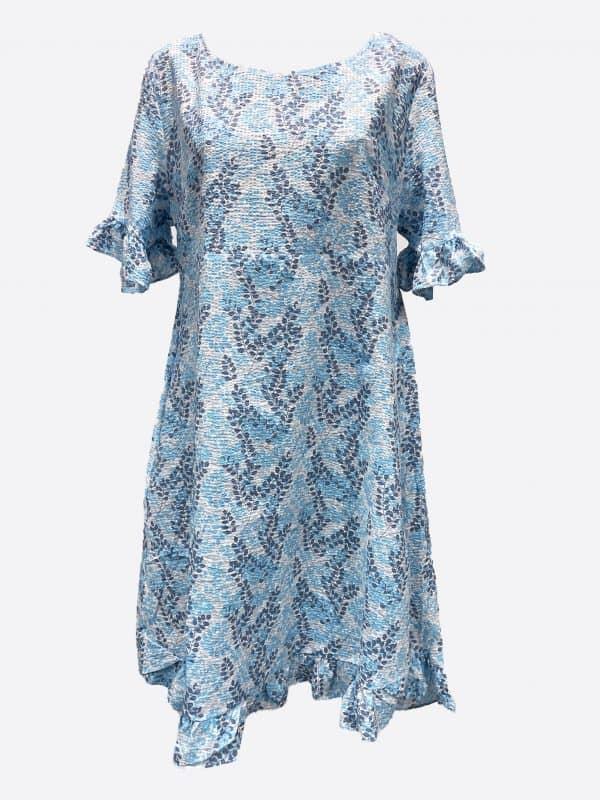 Seersucker Frill Dress