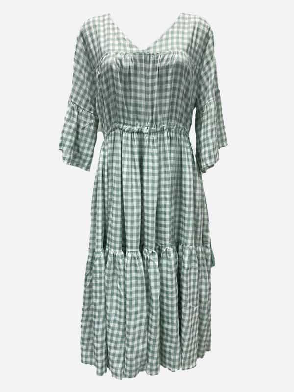Tassel Gingham Dress