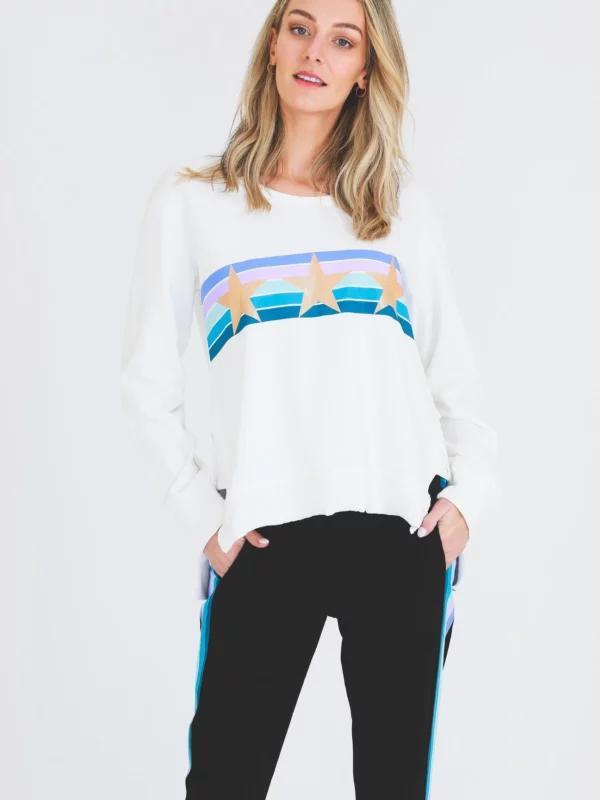 Colour Stripe Star Sweater