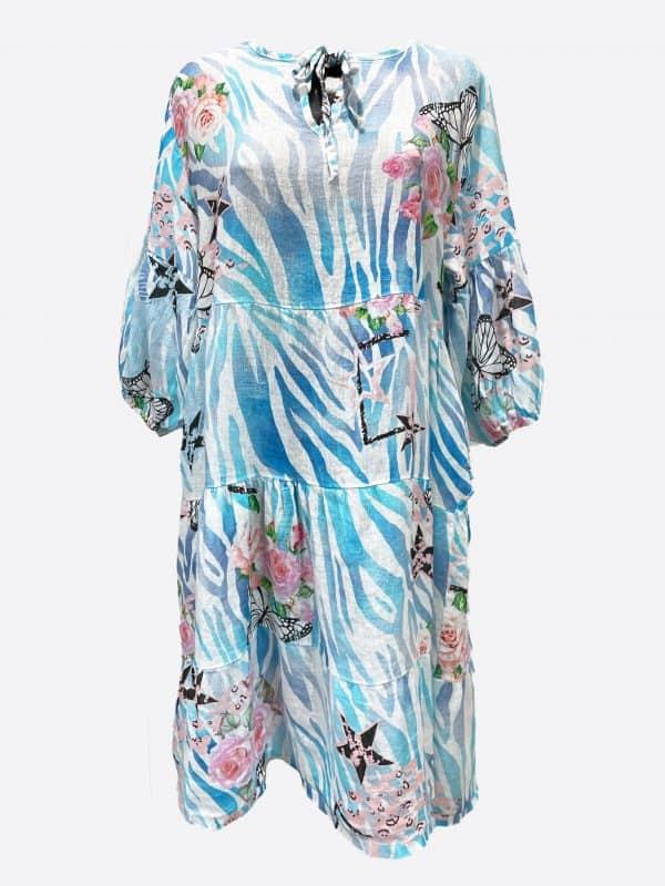 Butterfly Linen Dress