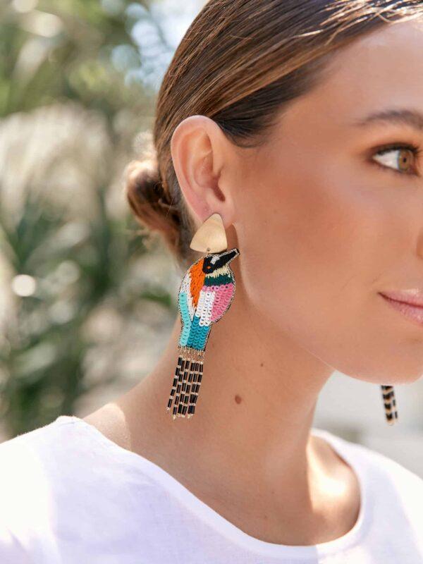 Bird Tassel Earrings