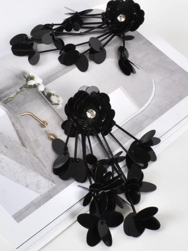 Flower Sequin Earrings