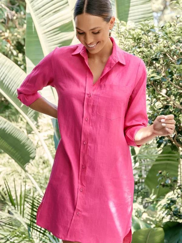 Maree Linen Shirt Dress