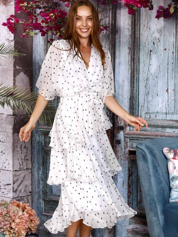 Silk Tie Dress Spot