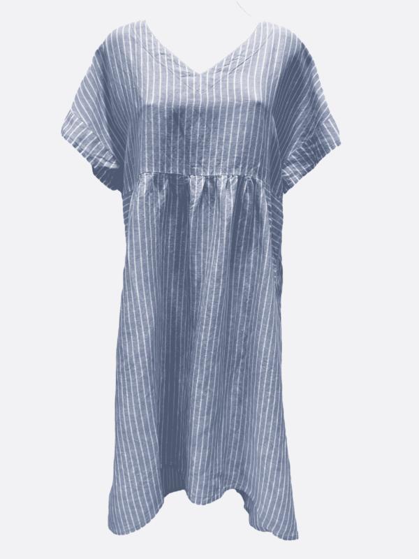 Linen V Dress