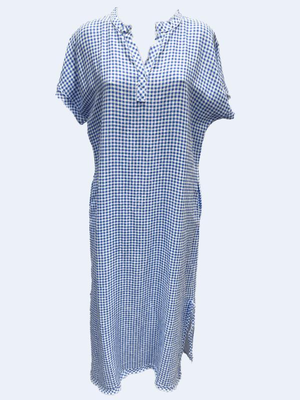 Check Collar Dress