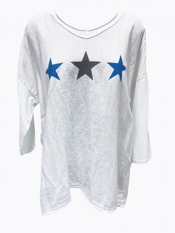 3 Star LS Tee