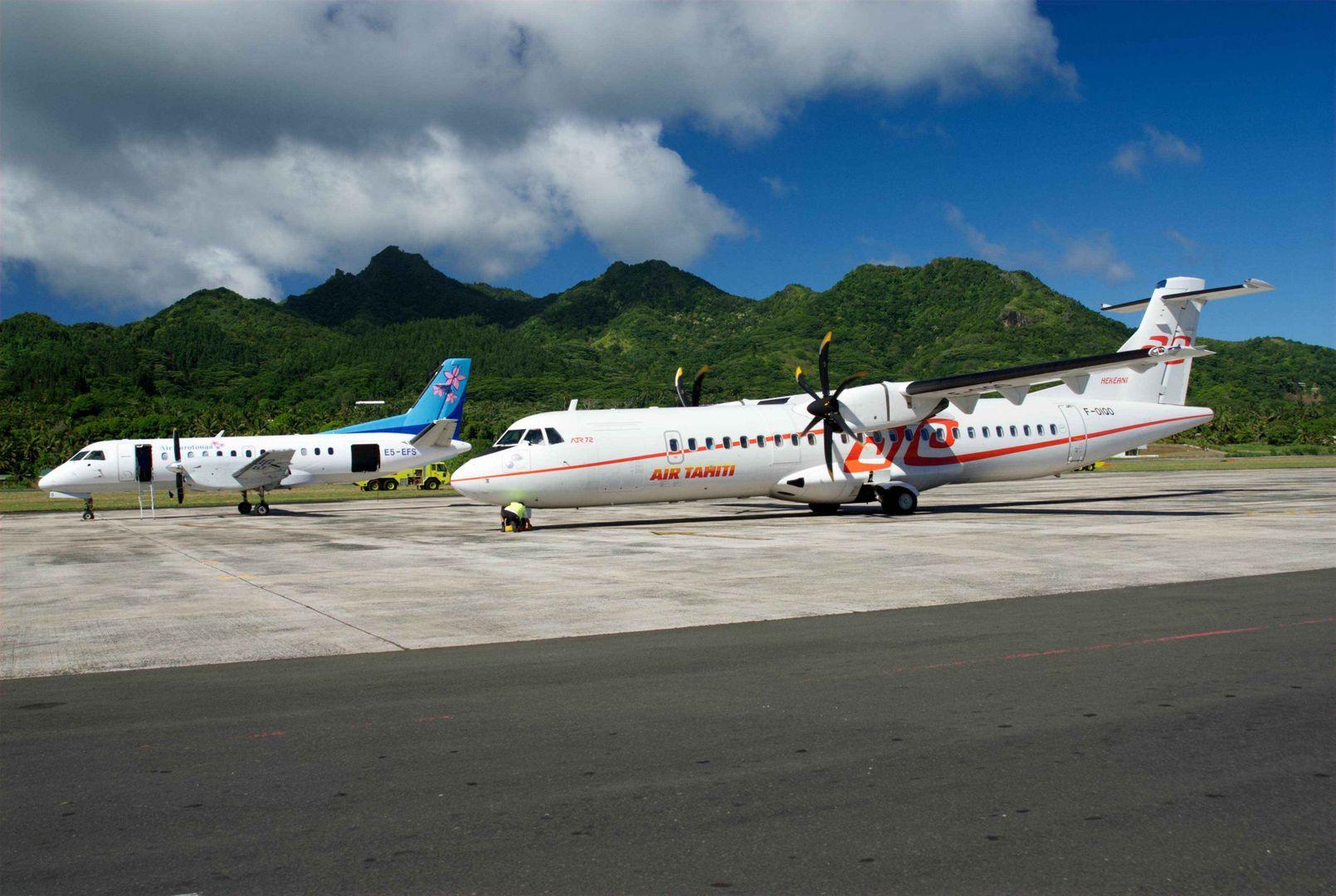 Saab & Air Tahiti ATR72_Rarotonga - Ewan Smith