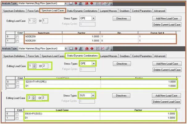 Load Case preparation for dynamic slug flow analysis