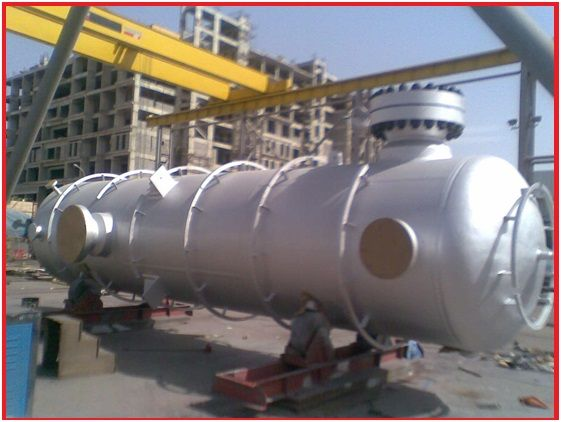 pressure vessels used in a process plant