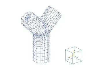FEM model for Y type fitting.