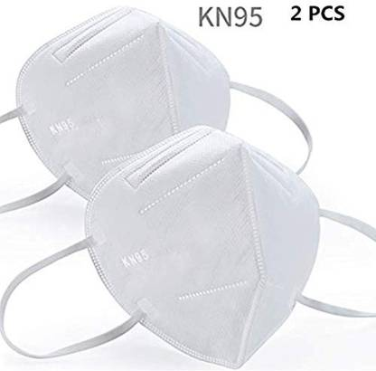 KN95 Face Mask With Valve - White, 10 x 15 cm (Pack of 2)