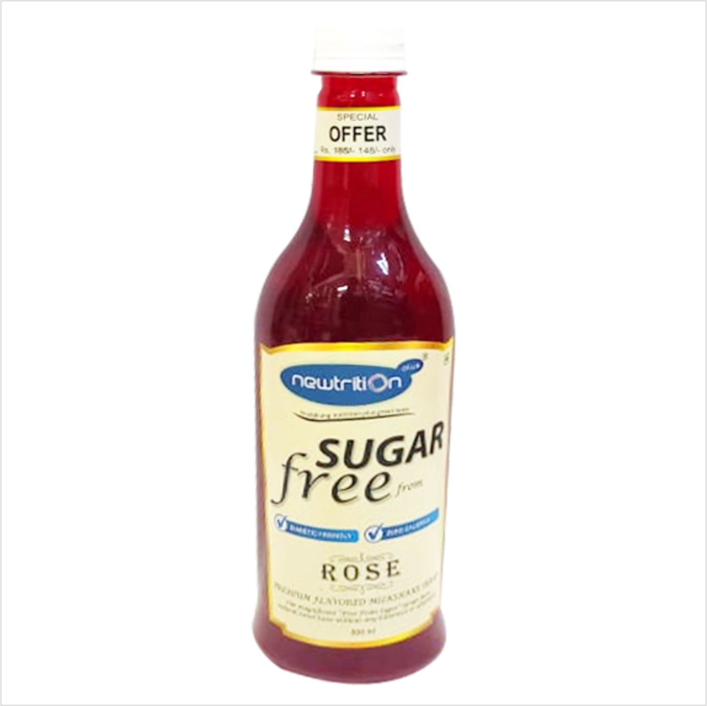 Newtrition Plus Rose - Sugar Free Syrups 500 ml