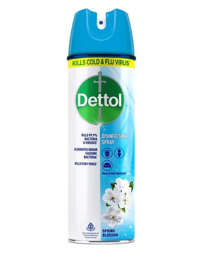 Dettol Disinfectant Sanitizer Spray for Germ Protection on Hard & Soft Surfaces, Spring Blossom, 225ml